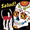 6x6 Tile Day of the Dead Salud Wine Toast