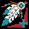 6x6 Tile Native American Feather Charm