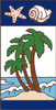3x6 Tile Nautical Palm Trees Left