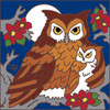 6x6 Tile Mama and Baby Owls 7627A