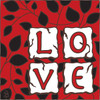 6x6 Tile Love Red 7478A