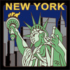 6x6 Tile Statue of Liberty New York 7874A