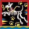 6x6 Tile Day of the Dead Dog