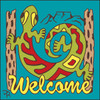 6x6 Tile Welcome Gecko Turquoise 7947TQ