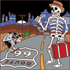 6x6 Tile Day of the Dead Route 66 Hitchhiker 7519A
