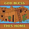 6x6 Tile God Bless This Home Terra Cotta