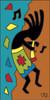 3x6 Tile Musical Kokopelli Terracotta 3029R