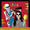 6x6 Tile Day of the Dead Hairdresser
