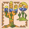6x6 Tile Saguaro Silhouette