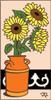 3x6 Tile Tile Sunflowers in Pot Sand 3025A