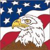 6x6 Tile Eagle US Flag 8208A