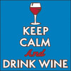 6x6 Tile Keep Calm and Drink Wine 8097A