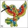 6x6 Tile Talavera Hummingbird White 8011W