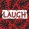 6x6 Tile Laugh Red 7484A