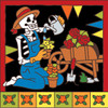 6x6 Tile Day of the Dead Gardener