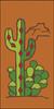 3x6 Tile Southwest Cactus Tera Cotta