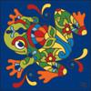 6x6 Tile Talavera Jumping Frog Cobalt 7818C