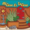 6x6 Tile Su Casa Cactus Garden Gate with Cat