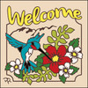 6x6 Tile Welcome Hummer Floral Sand 7955A