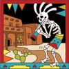6x6 Tile Day of the Dead Kokopelli