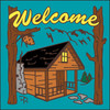 6x6 Tile Welcome Cabin Turquoise 7950TQ