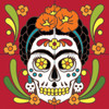 12x12 Tile Mural Day of the Dead Frida Kahlo