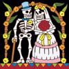 12x12 Tile Mural Day of the Dead Wedding