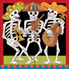 12x12 Tile Mural Day of the Dead Mariachi's