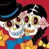 12x12 Tile Mural Day of the Dead Couple