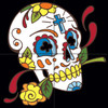 12x12 Tile Mural Day of the Dead Marigolds