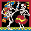 12x12 Tile Mural Day of the Dead Dancers