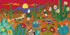 """12"""" x 24"""" Tile Mural Sunset Desert Scene"""