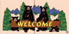 "6""x12"" Tile Sign Lodge Welcome Bears"