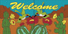 "6""x12"" Tile Sign Desert Blooms Welcome Hummingbirds"