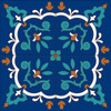 "12""x12"" Tile Mural Talavera Lace Pattern"
