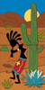 "12"" x 6"" Tile Sign Kokopelli Desert Song"