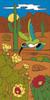 "12"" x 6"" Tile Sign Hummingbird and Desert Blooms"