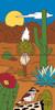 "12"" x 6"" Tile Sign Desert Wren and Blooms"