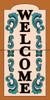 "12"" x 6"" Tile Sign Ornate Welcome Terra Cotta"
