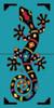 """12"""" x 6"""" Tile Sign Festive Gecko"""