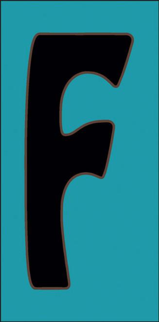 3x6 Tile House Letter E Turquoise