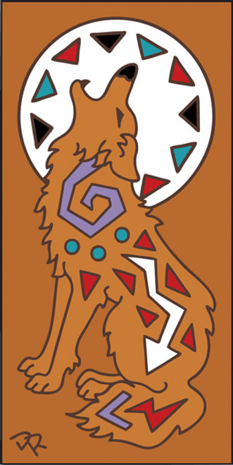 3x6 Tile Howling Coyote Terracotta 3018R