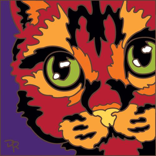 6x6 Tile Abstract Cat II