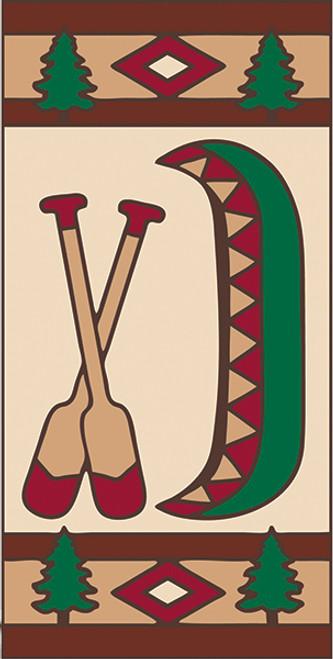 3x6 Tile Lodge Canoe Right