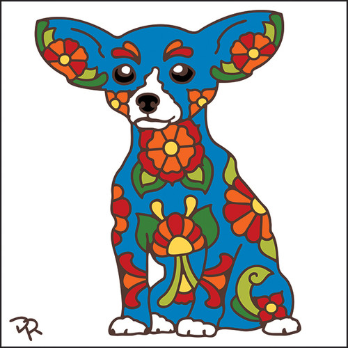6x6 Tile Talavera Chihuahua White 8013W