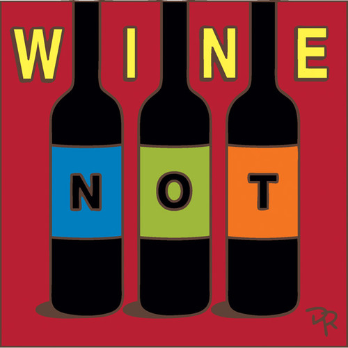 6x6 Tile Wine Not