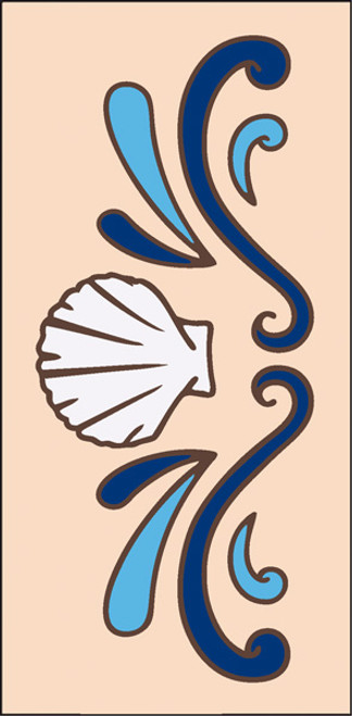 3x6 Tile Sea Shell Border Sand