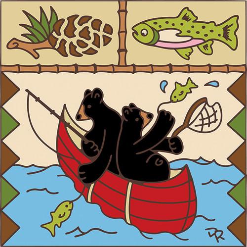 6x6 Bears in a Canoe 7558A