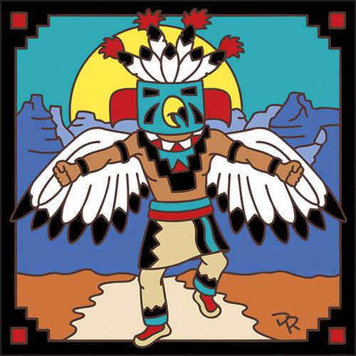 6x6 Tile Kachina Eagle Dancer 7704A