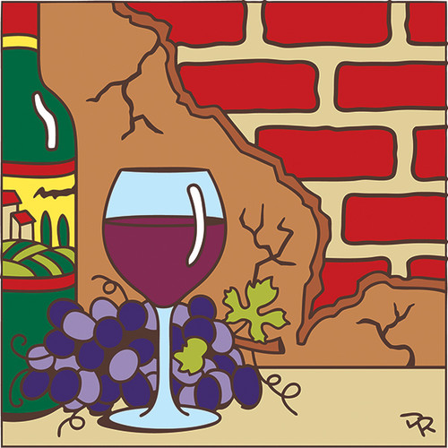 6X6 Tile Wine with Brick 7666A